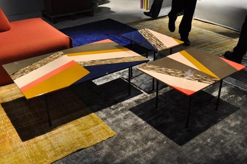 Vakmanschap in hout, metaal en kunsthars - tafels van Moroso