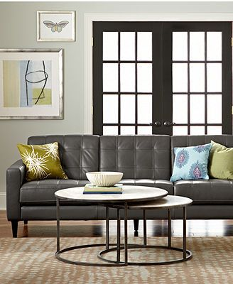 Carla Leather Living Room Furniture Sets & Pieces