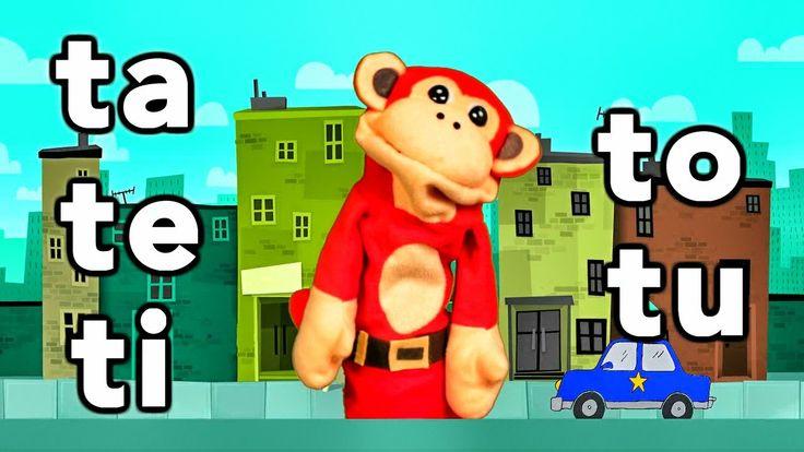Sílabas ta te ti to tu - El Mono Sílabo - Videos Infantiles - Educación ...
