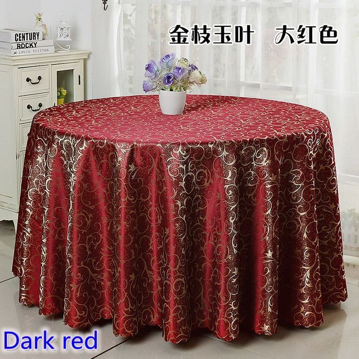 Cheap table cover, Buy Quality table cloth damask directly from China jacquard table cloth Suppliers: Dark red colour jacquard table cloth damask pattern table cover for wedding hotel and round table linen decoration wholesale