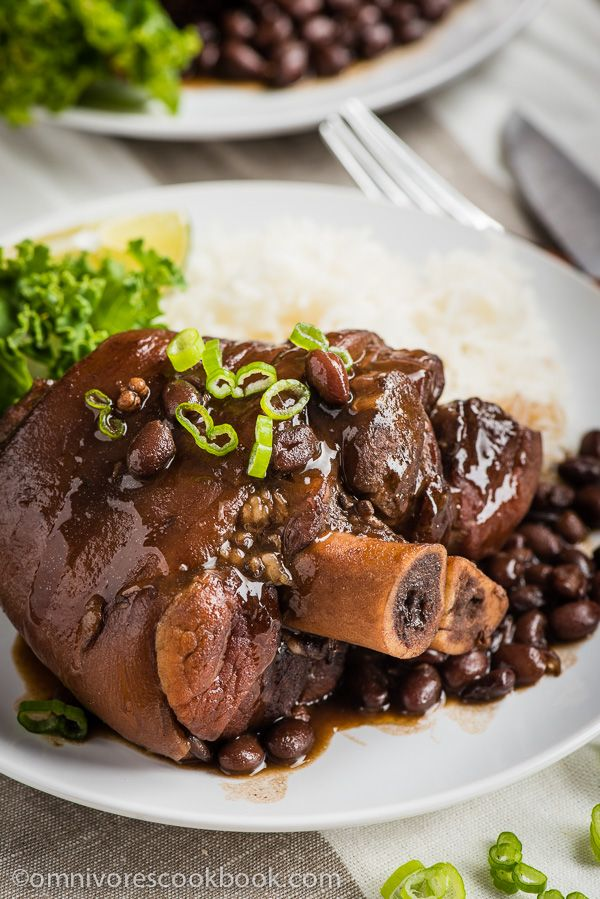 Braised pork shank with black beans recipe braised for Asian cuisine 08052