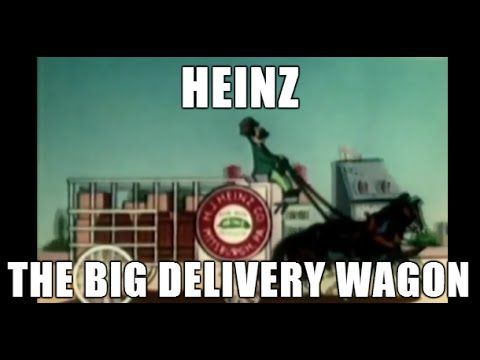 Heinz - The Big Delivery Wagon AnimationHeinz- the Big Delivery Wagon takes us on a journey from the farm to the factory to demonstrate the various strategies required in order to see their finished products all the way to the dining room table. The Big Delivery wagon, produced by Heinz, which to this day is still well renounced for their food items, utilizes a combination of animation and as well as real archival footage.