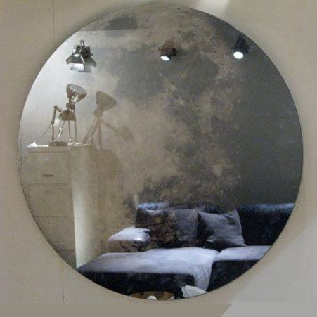 This is the moon... in a mirror. Find out more on >> http://www.malfattistore.it/en/product/my-moon-my-mirror-2/ #malfattistore #interiordesignonline #mirror #dieselliving #italiandesign #livingroom