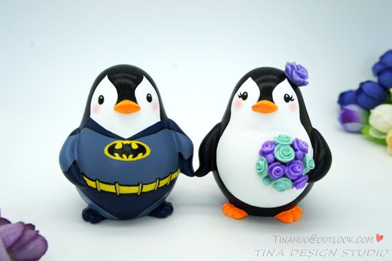 Tarta Batman primeros de pastel de bodas Toppers-superhéroe de