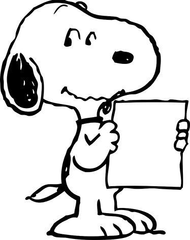 Snoopy Zettel Aufkleber