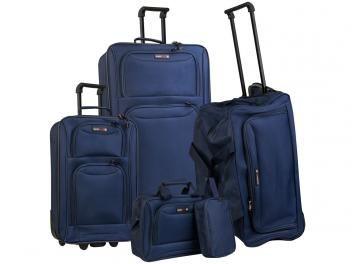 Conjunto de Malas 5 Peças Swiss Move - CJ14G0285A Azul Marinho