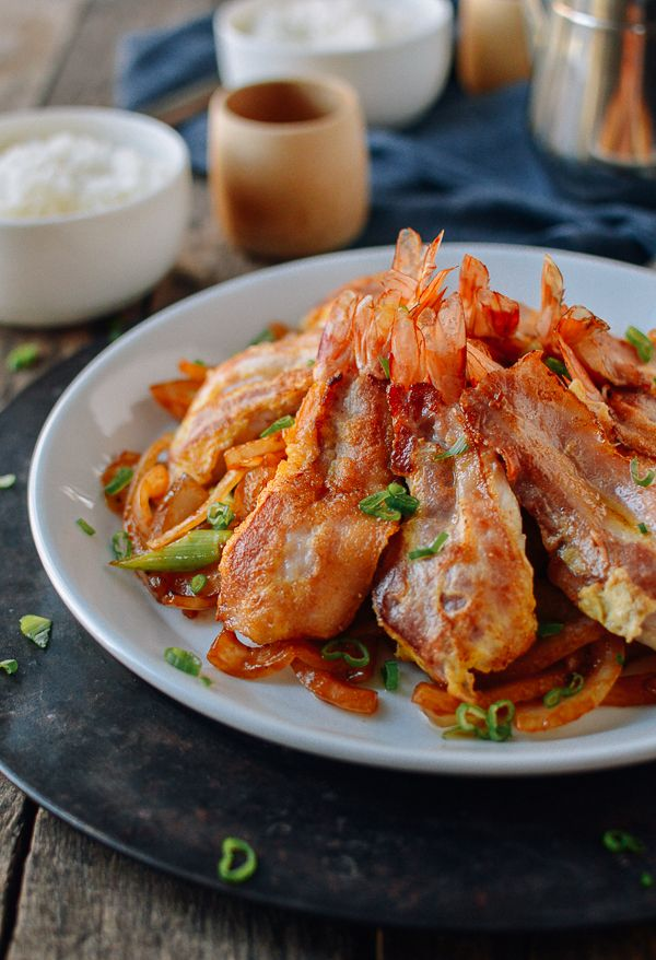 Butterfly Shrimp W Bacon Chinese Restaurant Recipe The Woks Of Life Recipe Restaurant Recipes Butterfly Shrimp Asian Recipes