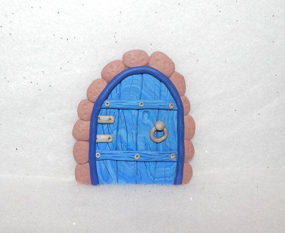 ornement de porte fée, jardin de fées, maison de la fée, argile polymère, porte fée des dents, hobbit, toadstool