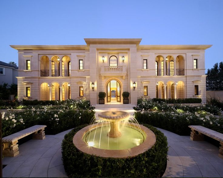 Spectacular limestone mansion in los angeles ca homes for Luxury house exterior designs