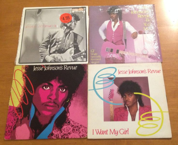 Jesse Johnson Lot 4 Record LPs Love Struck Revue Be Your Man Want My Girl Prince