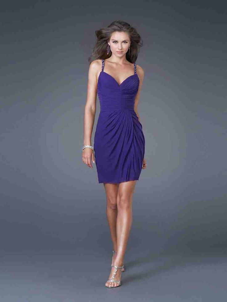 Purple Cocktail Dresses For Weddings