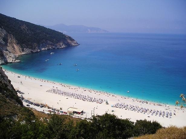 Myrtos Beach, Kefalonia, photo courtesy of barefoot duchess blog