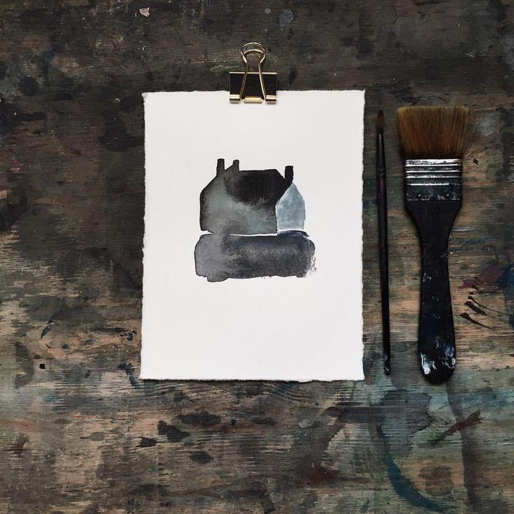 Acrylic paint on paper #camillaknutsenart #ohbecourageous
