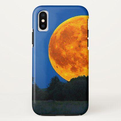 big orange moon cosmic iPhone case - modern gifts cyo gift ideas personalize