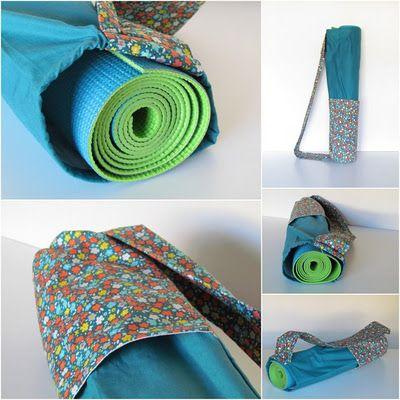 Le blog du hibou sur le fil: Le sac pour tapis de yoga: How to do it!