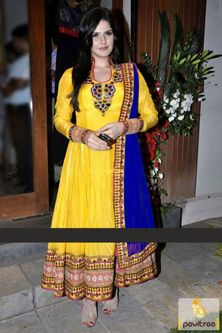 The gorgeous blue and yellow georgette anarkali party wear bollywood salwar suit looks really good on occasion like festival or party even which looks chic. #BollywoodSalwarSuits #BollywoodSalwarKameez #ShilpaShetty  #KareenaKapoor #Sonakshi #DaisyShah #Madhuri #Jecqueline #ShreeDevi