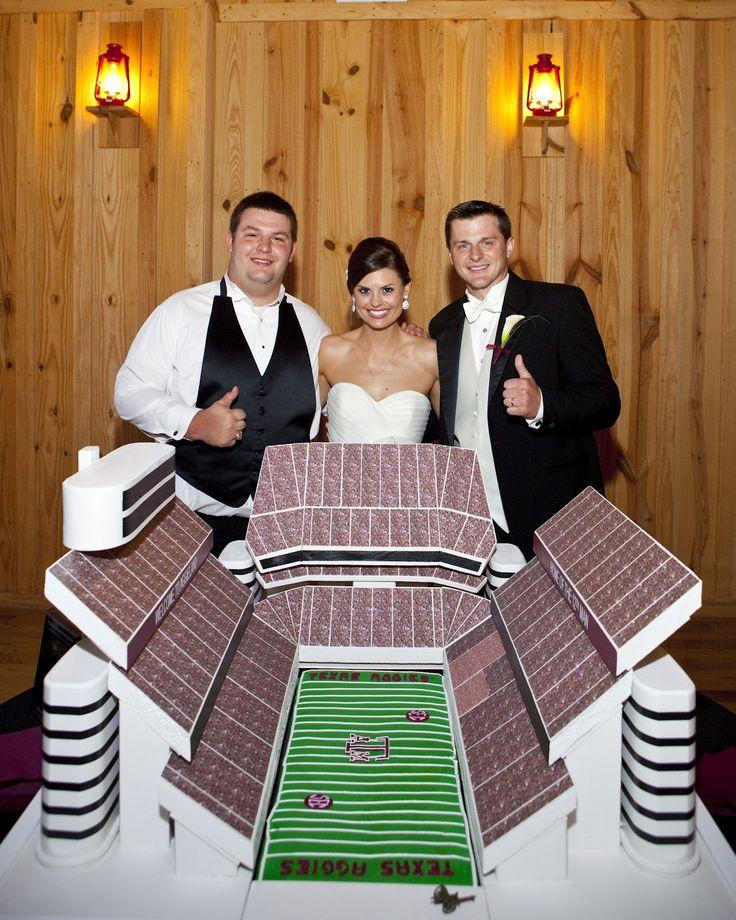 Kyle Field groom's cake! Whoop!