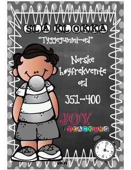 """This is the eight of 10 High-frequency sets in Norwegian! Set # 8 - Grey""""Beat the Clock"""" is a great and engaging word activity for students to master fast recognition of high-frequency words. My students L-O-V-E it! I use this system from grade 1-6 throughout the whole school year."""