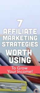 Some affiliate marketing strategies you can use other than simply sticking some links in your post and hoping for the best.