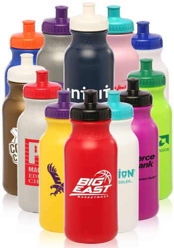 Can choose body and lid colors White Value Wholesale Water Bottles, Wholesale Water Bottles, Logo Sports Bottles