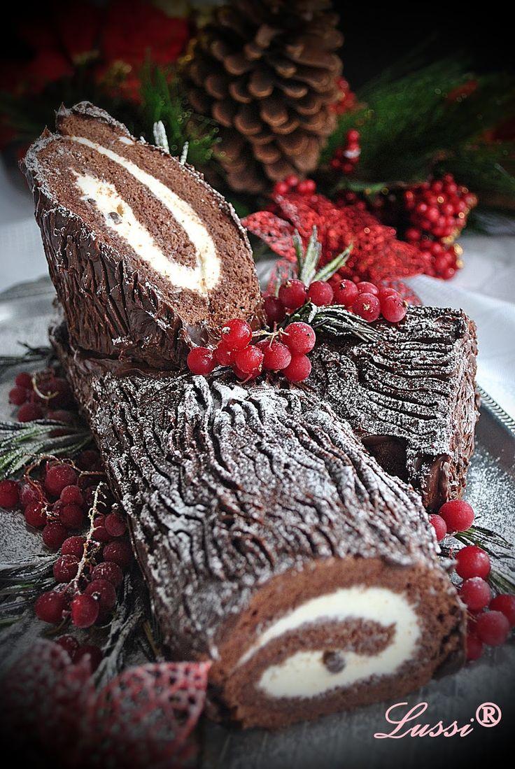 Коледно пънче ( Шоколадово руло) / Bûche de Noël or
