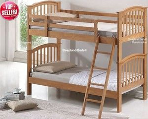 Childrens Solid Wood Bunk Beds