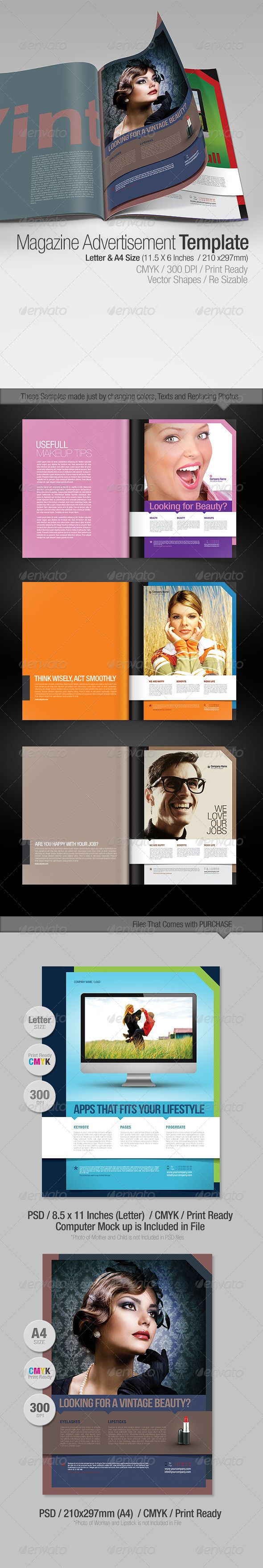 magazine advertisements templates