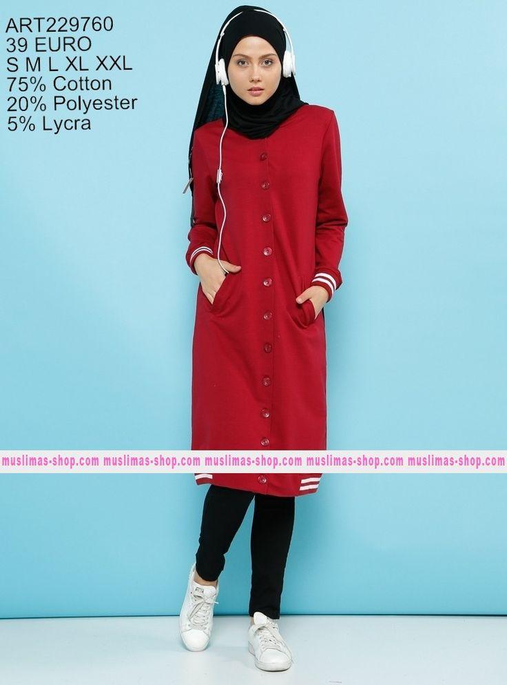 Le nostra offerta #vestitoislamico per la donna #musulmana  striped Topcoat - Benin - Fabric Info:  75% Cotton  20% Polyester  5% Lycra   - SKU: 229760. Buy now at http://www.muslimas-shop.com/striped-topcoat-benin.html