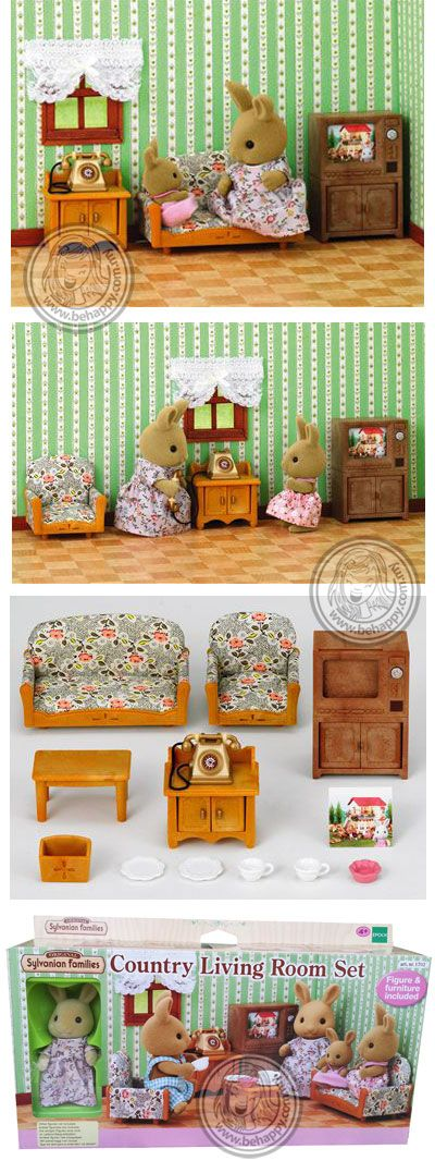 toys miniature sylvanian families sylvanian families country living roomsliving room setssylvanian familiesminiature - Sylvanian Families Living Room Set
