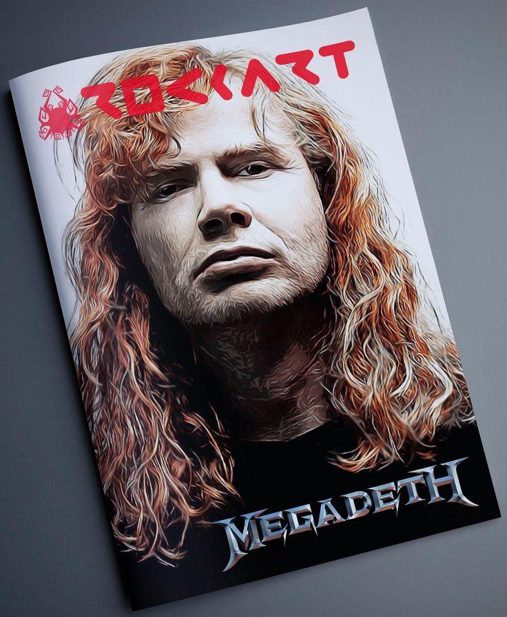 Dave Mustaine - Megadeth #mockup #conceptmagazine #smooth #oilpainting #17rockart #fineart #art #artwok #davemustaine #megadeth #band #thrashmetal #rockstar #dimashardiansa #indonesia #layoutdesign #graphicdesign