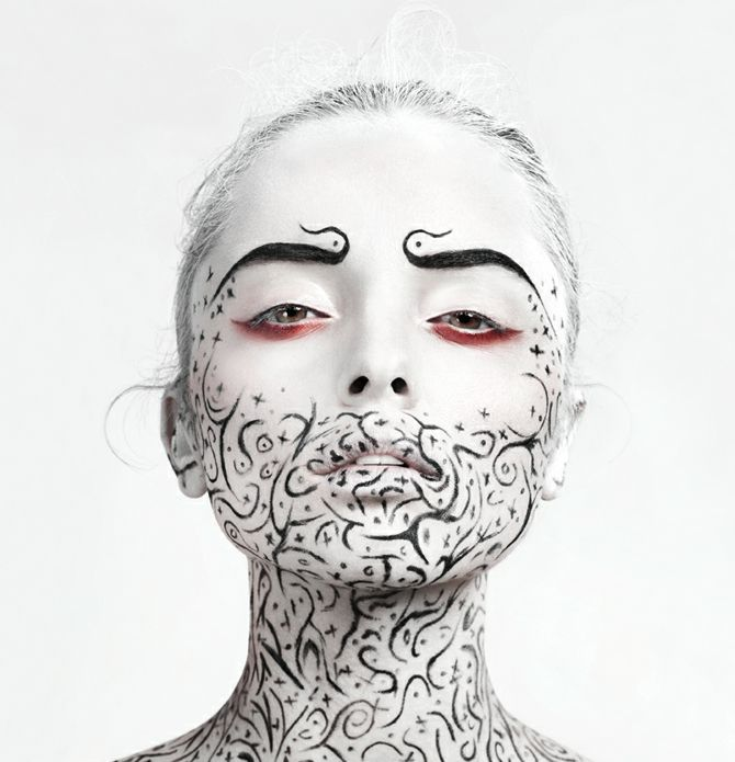 From Johannes Graf's Photography comes these amazing black and white creative makeup and beauty images.
