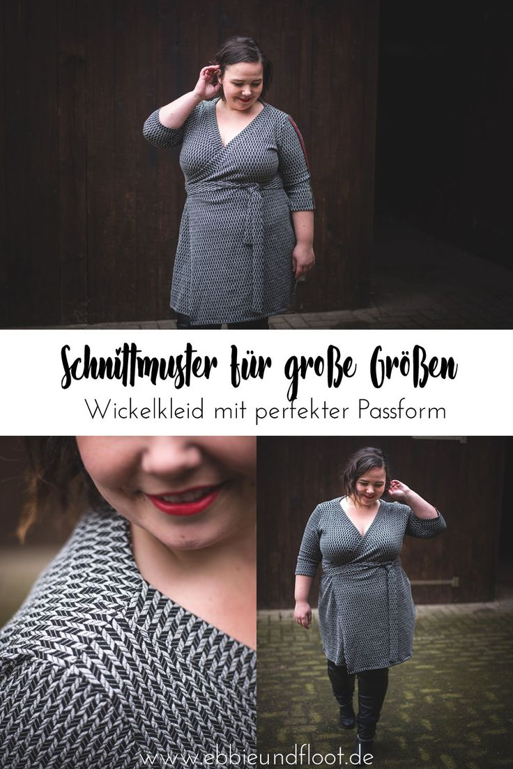 Damen Schnittmuster Wickelkleid – Grain Knit von Albstoffe