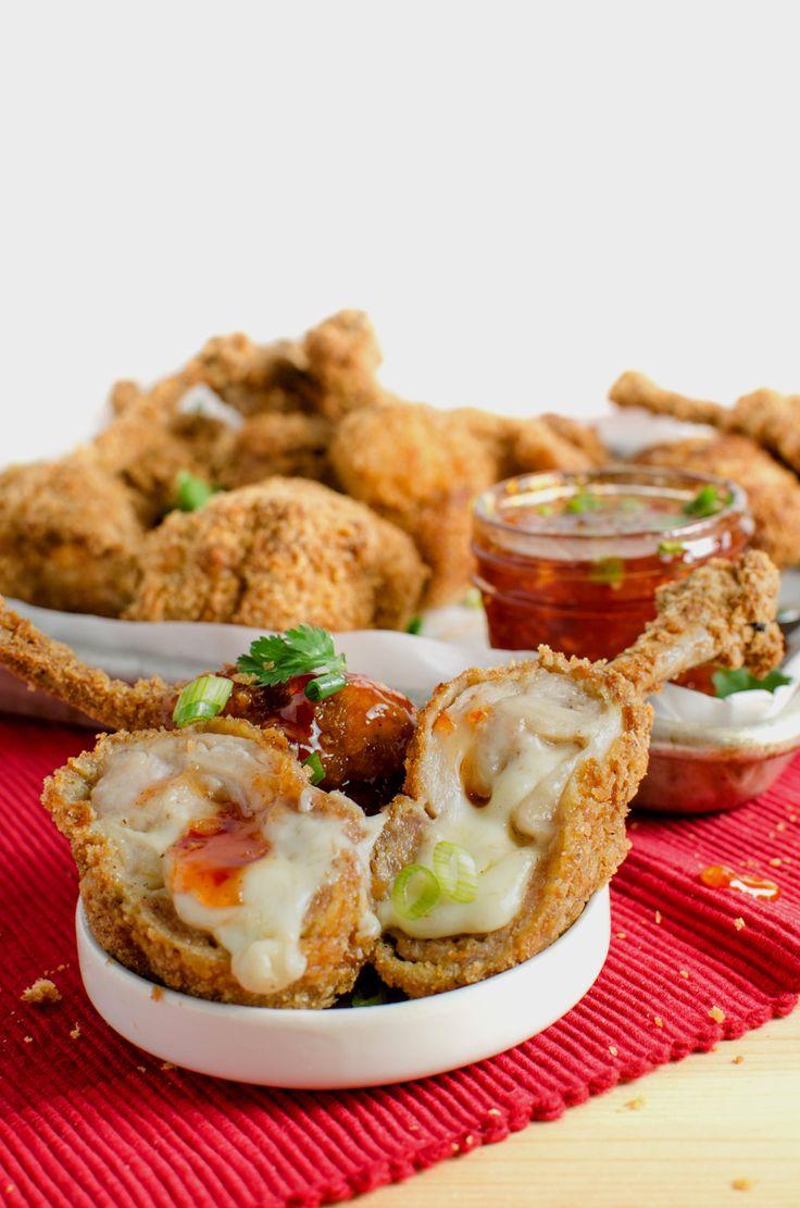 Boneless Cheese Stuffed Chicken Wings - The Flavor Blender