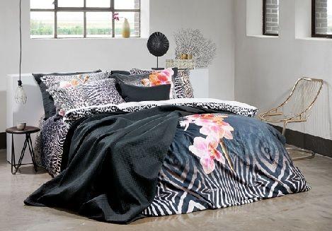 Van dyck overtrek briljant, zwart, multi, orchidee,sprei elegant zwart 180x260,260x260, wildlife, zwart,actie prijs