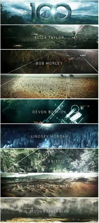 TV CHALLENGE #18: Favorite title sequence: The 100. Awesome Job! There have been others but as far as shows currently running, this one takes the cake.