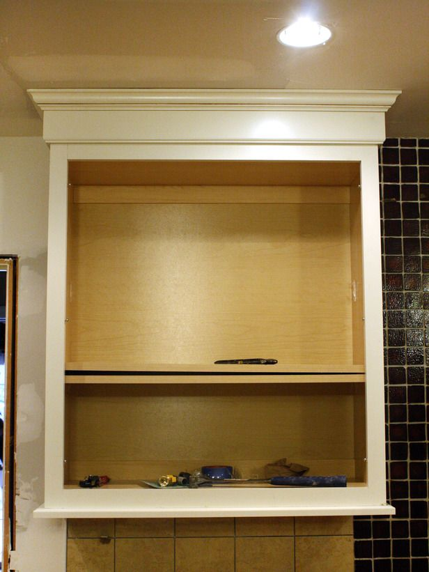 How To Install A Kitchen Cabinet Light Rail Cabinet