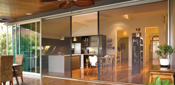 Retractable Screens and Doors to outside entertainment area gives you wide opening