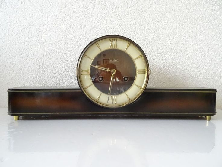 Zentra German Vintage Antique Mantel Mantle Shelf Clock 8 day (Junghans era)