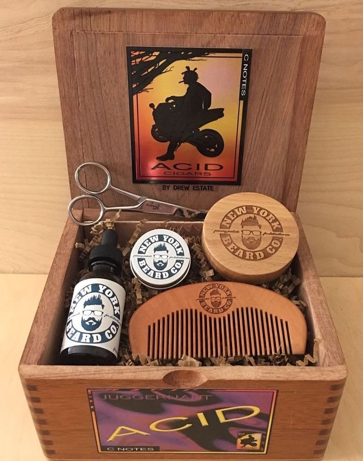 Motorcycle Cigar Box Beard Oil Kit Gift Set  | eBay