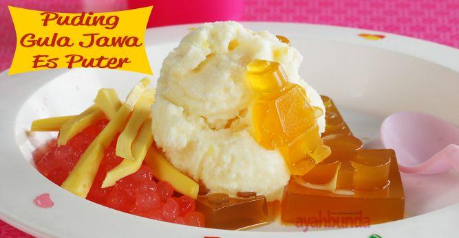 Puding Gula Jawa Es Puter :: Klik link di atas untuk mengetahui resep puding gula jawa es puter