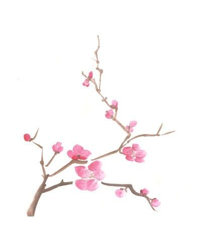 Cherry blossom drawing art tattoos pinterest cherry for Simple cherry blossom painting
