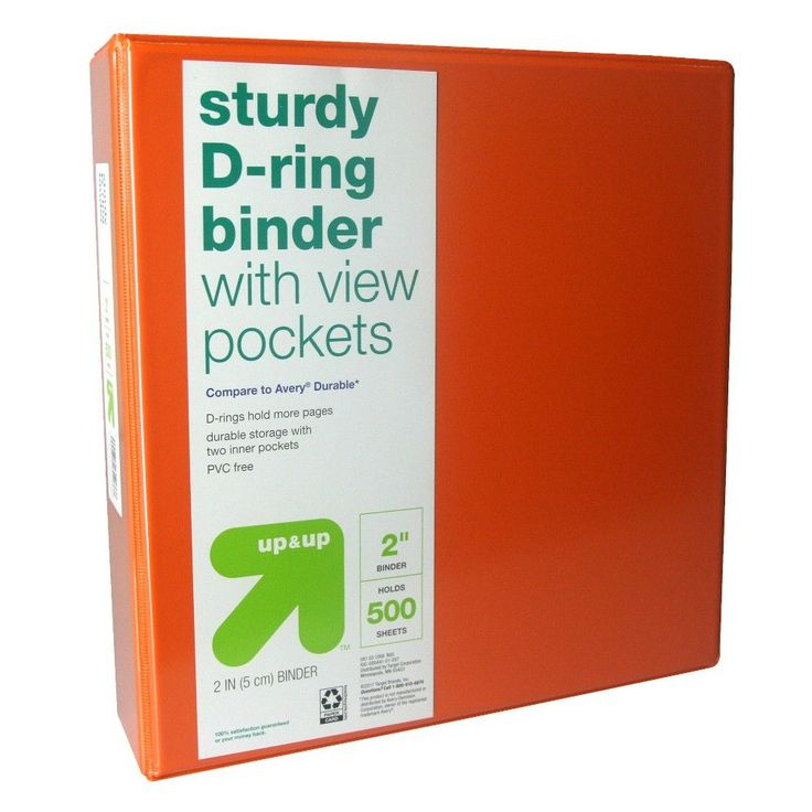2 Durable 3 Ring Binder Clear View Orange - up & up