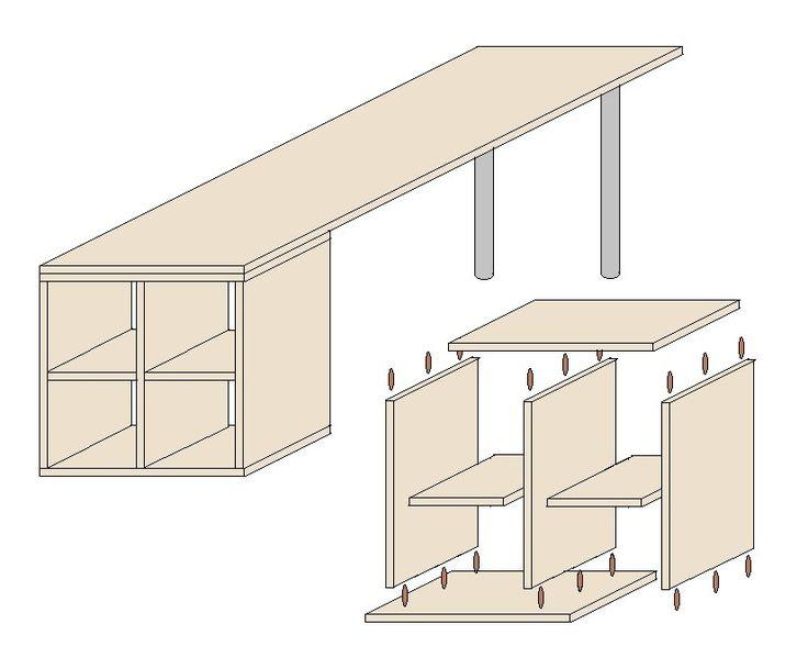 die besten 25 schreibtisch selbst bauen ideen auf pinterest bastelzimmer schreibtisch. Black Bedroom Furniture Sets. Home Design Ideas