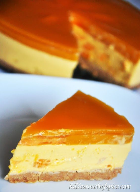 Mango Cheesecake (No Bake & Eggless) - Hilda's Touch Of Spice