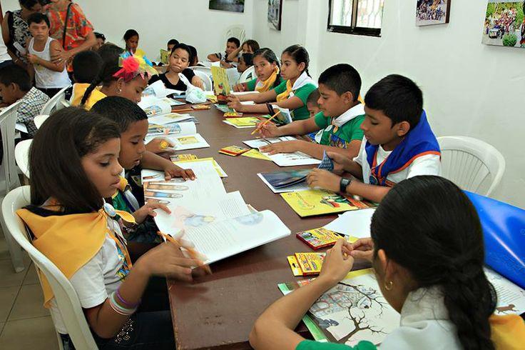 """Homenaje a Gabriel García Márquez con el taller infantil """"Viaje a la semilla"""", en la Biblioteca Municipal de Aracataca."""