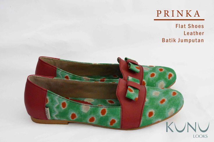 PRINKA Flat Shoes Genuine Leather & Batik Jumputan