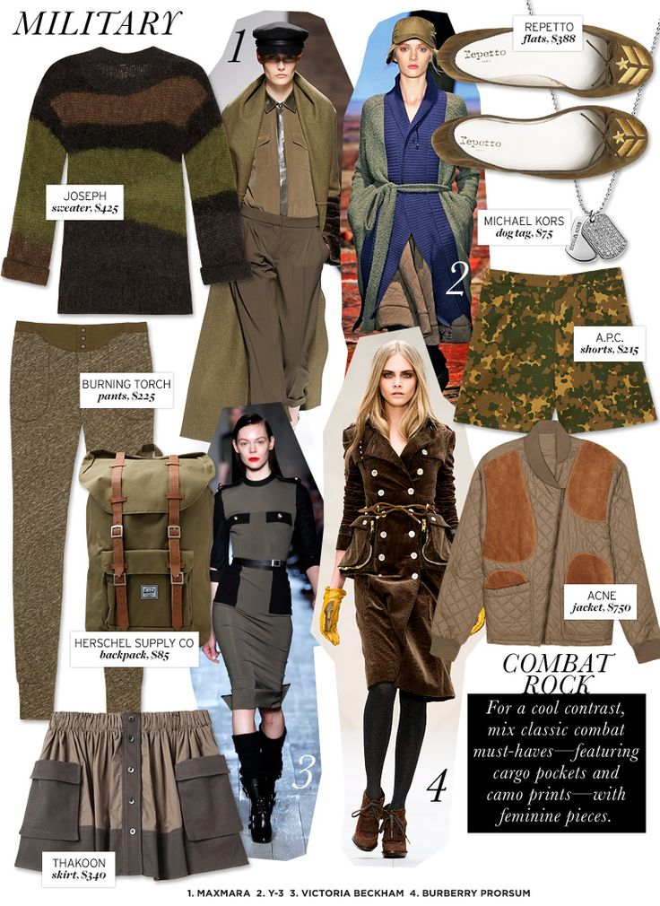 Wouldn't be the fall season without the ubiquitous military inspired trend...