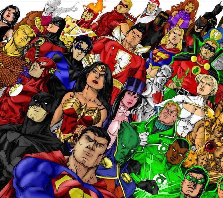 Обложки комиксов на одной картинке