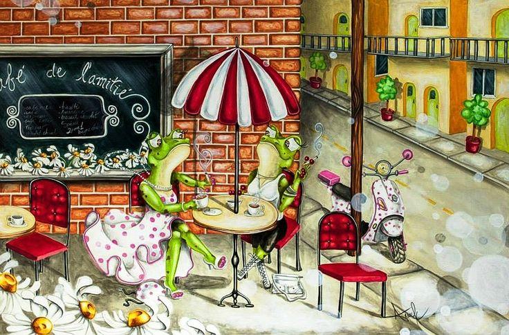 Leap Cute Frog E  ~Anouck Goulet