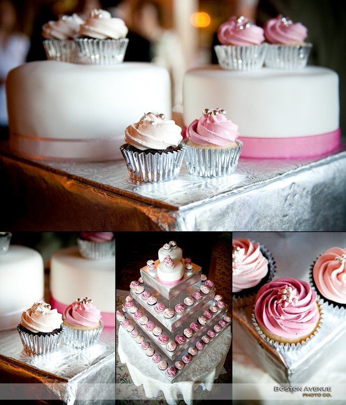 decadent cupcake display!